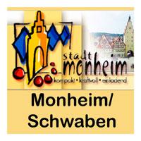 Banner Stadt Monheim Schwaben